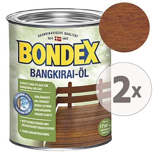 Gardopia Sparpaket: Bondex Bangkirai-Öl 7121 Schutz, Pflege & Farbtonauffrischung, 2 x 750 ml