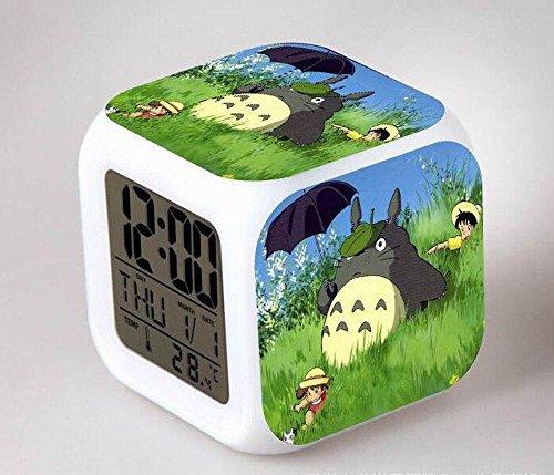 COOLNN-Mein Nachbar Totoro Anime Wecker kreative Cartoon Buntes Wecker Für Kinderwecker Digitale Wecker Analoge Wecker Lichtwecker, 8