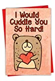 NobleWorks, Funny Card for Valentine's Day - Animal Love, Cute...
