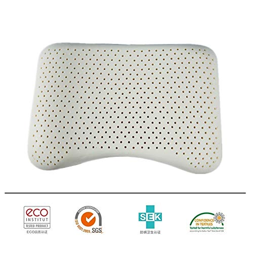 JSX 57 * 37 * 8 * 9Cm Slim Sleeper - Natural Latex Pillow Ergonomic Granule Natural Talalay Latex Pillow - Natural And Healthy Sleep