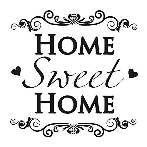 Home Sweet Home - Plantilla reutilizable (tamaño A3, A4, A5, tamaño A5, tamaño A5, 148 x 210 mm, 14,7 x 21,1 cm)