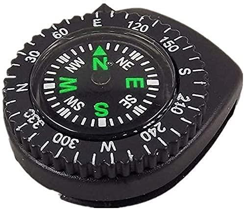 LSWY Mini Pulsera Brújula portátil Portátil Desmontable Reloj Resbalón Senderismo Senderismo Viaje Viajes Viajes de Emergencia Supervivencia Herramienta de navegación