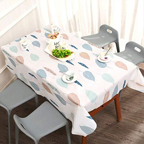 EDCV Tafelkleed waterdicht, oliebestendig, wasbaar, doek, tv-meubel, theetafel, PVC, plastic, strijkvrij, studententafel, mat, thuis tafelkleed