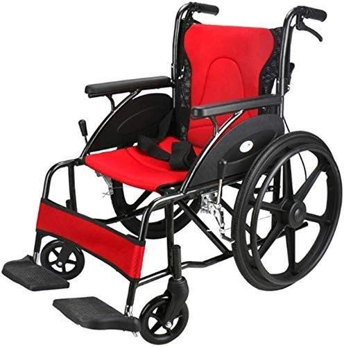 IREANJ Wheelchairs Lightweight Folding Wheelchair Driving Medical, Aluminum Alloy Wheeled Folding Wheelchair Can be Combined with Elderly and Disabled People Elderly