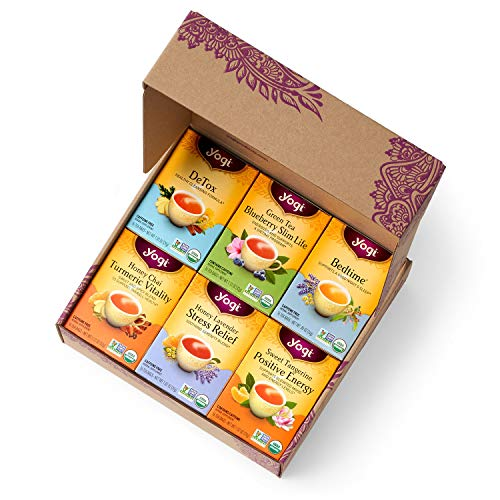 Yogi Tea - Yogi Favorites Variety Pack in Gift Box Packaging (6 Pack) - Includes 6 of the Most Popular Yogi Teas - 96 Tea Bags