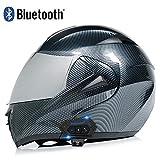 MAMAO Motorcycle Bluetooth helmet, modular flip-type double sun visor full helmet, DOT/ECE certified helmet, built-in Mp3 integrated communication system