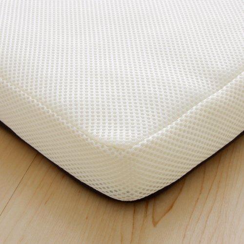 アイリスオーヤマエアリーマットレス三つ折り厚さ5cm高反発リバーシブル通気性高耐久性抗菌防臭洗えるシングルホワイトMARS-S