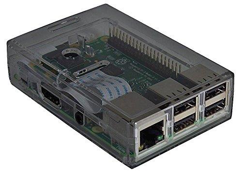 Raspberry Pi 3 Model B Quad Core With Case (Smoked Case)
