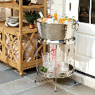 Avalon Double Walled Beverage Tub with Stand & Tray | Ballard Designs