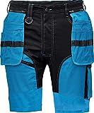 DINOZAVR Keilor Shorts da Lavoro Estive da Uomo in Cotone con Elastan e Tasche Cargo - Blu Reale 48