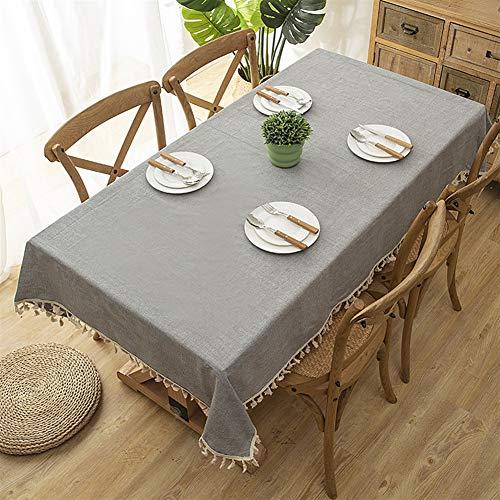 Liveinu Nappe Rectangulaire Tissu de Table Lavable Entretien Facile Résistant Imperméable Anti-tâche Nappe de Table pour Picnic Cuisine Jardin Gris 120x160cm