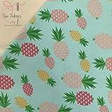 Mint-Ananas-Druck, Baumwolle, Elastan, bedruckt, Jersey,