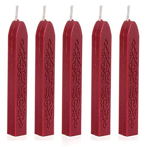 5 stuks wijnrood manuscript afdichting afdichting plakt lonten voor post # TX, rood