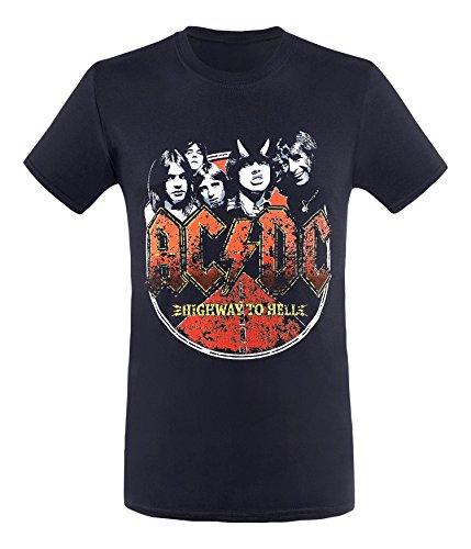 AC/DC Highway–Camiseta de, Hombre, Color Negro, tamaño Large