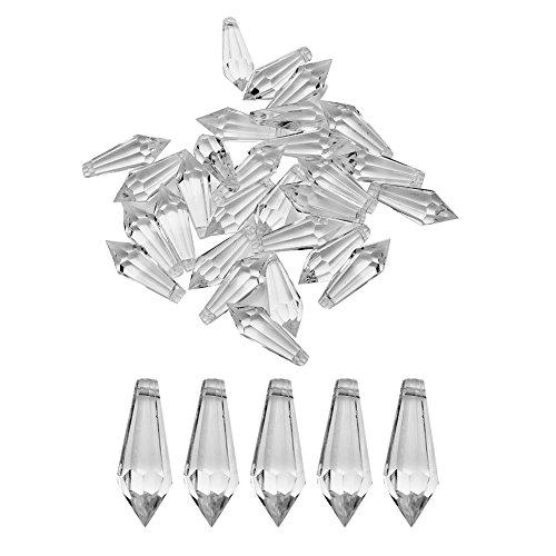 Prosperveil 30 lampadari in cristallo acrilico trasparente gocce gocce perline pendente prisma ghirlanda di cristallo per matrimonio decorazione natalizia (piramide lunga)