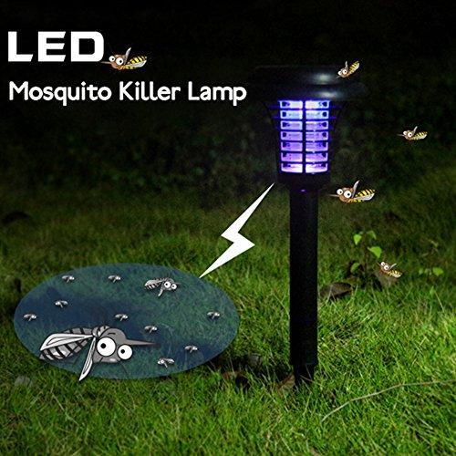 Lampada antizanzare da esterni, a energia solare, da appendere o inserire al suolo, luce da giardino