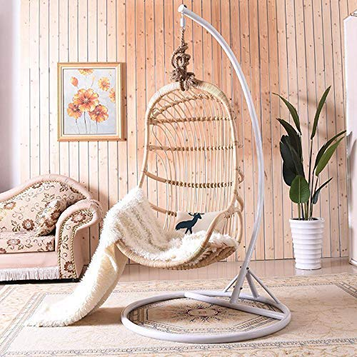 Swing Chairs Best Choice Products Metal Hanging Hammock C-Stand for Chair, Porch Swing w/Weather-Resistant Finish, Offset Base, 360-Degree Rotation