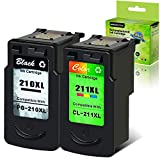 GREENCYCLE Remanufactured Ink Cartridge Compatible for Canon PG-210XL CL-211XL 210 XL 211XL to use with PIXMA IP2702 MX410 MP495 MP230 MP240 MP280 MX340 MX350 MX360 Printer (Black, Tri-Color)