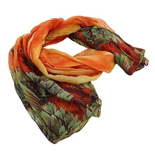 SFSGH Bufandas de Flores de Coral de Invierno Personalizadas para Mujer, Chal y Abrigos de algodón de Hilo de Bali cálido para Mujer, Bufanda Larga de Moda para Mujer al por Mayor