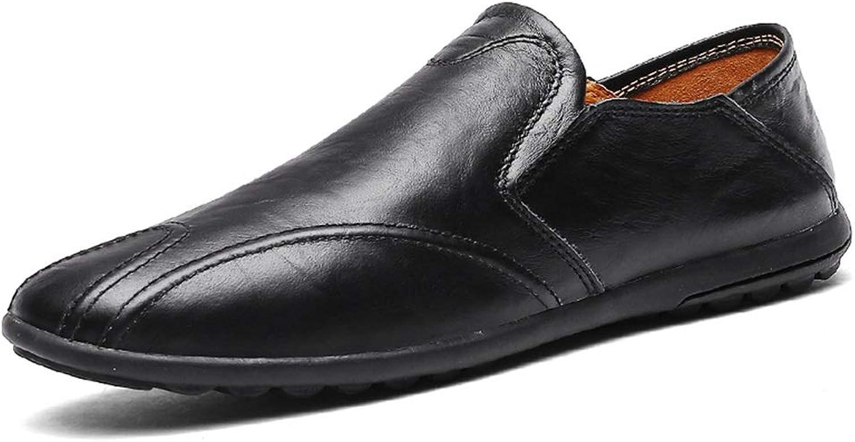 JUJIANFU-shoes Drive Loafer for Men Boat Moccasins Slip On Style PU Leather Simple Virginal color British Fashion