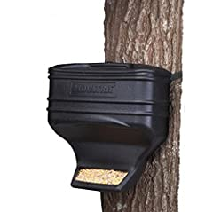 Gravity-driven trough design Durable, UV-resistant plastic construction 40 lb. Capacity Strap for Tree or post mounting included No batteries or programming required