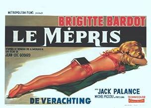 Contempt Poster Movie Belgian 11x17 Brigitte Bardot Jack Palance Fritz Lang Georgia Moll