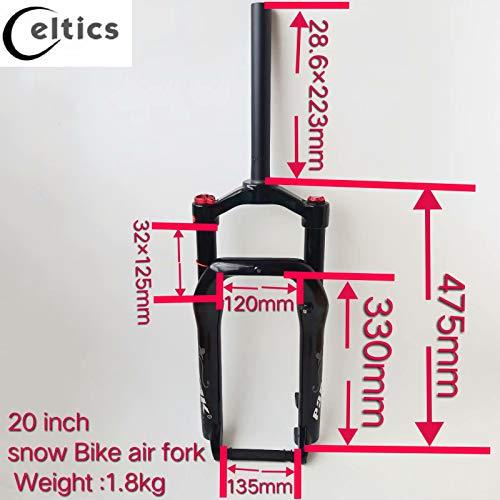 Celtics Fat Bike - Horquillas de suspensión para neumático de 4 Pulgadas (135 mm)