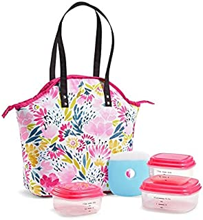 Fit & Fresh Insulated Lunch Bag Kit, includes Containers, Davenport Blithewold Blooms
