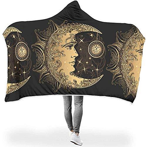 Nat Abra Celestial Moon Floral Totem Astrologie Print Decken Kuschelig Warme Winter Sherpa Fleece Kostüme Für Frauen Männer Kinder Schlafsessel Schlafzimmer