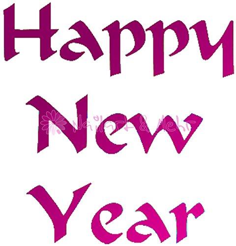 Pochoirs/Airbrush 1 planche de peinture pochoirs, autocollant : # SLV-013 Happy New Year, Nouvel An, Nouvel An