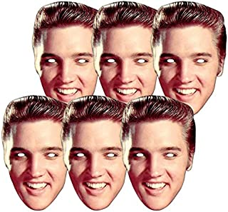 Star Cutouts Ltd SMP381 6 X Elvis Presley Party and Gift The King Masks, Multicolour, One Size