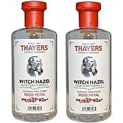 Thayers - Rose Petal Witch Hazel with Aloe Vera Alcohol-Free Toner - 12 Fl Oz (Pack of 2)