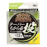 サンライン(SUNLINE) ナイロンライン CASTEST テーパー力糸投 75m #4-12 イエロー