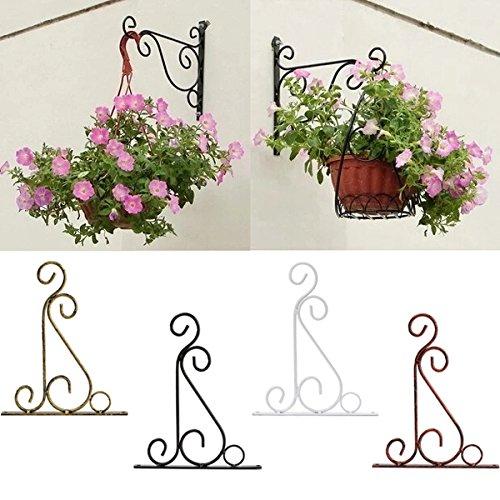 Bureze Classique Romantique en Fer forgé Crochet de Support de Fleurs en Fer forgé Crochets de Pots de Plantes