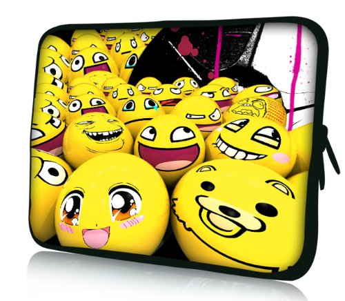 Luxburg® Design Laptoptasche Notebooktasche Sleeve für 13,3 Zoll (auch in 10,2 Zoll | 12,1 Zoll | 13,3 Zoll | 14,2 Zoll | 15,6 Zoll | 17,3 Zoll) , Motiv: Smiley Emotion