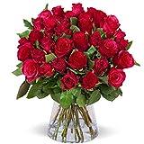 Blumenstrauß, 20 Rote Rosen, ideale Geschenkidee, Floristen Qualität, 50 cm Stiellänge, Schnittrosen, ca. 30 cm Durchmesser, kostenloser Blumenversand