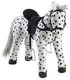 Heunec 723771 - schwarz-weiß gepunktetes Pferd stehend mit Sound 100 KG...