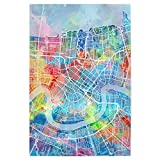 artboxONE Poster 30x20 cm Städte New Orleans map