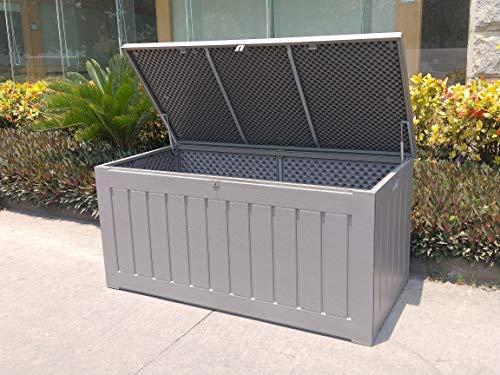 Garden Impressions Voll Kunststoff Aufbewahrungsbox Jersey 830 Liter mit Hubautomatik