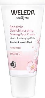 WELEDA Mandel Sensitiv Gesichtscreme, Naturkosmetik Feuchtigkeitscreme zur Pflege trockener, empfindlicher und sensibler Haut im Gesicht und am Hals für einen gesunden Teint 1 x 30 ml
