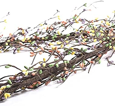 Factory Direct Craft Hand Wrapped Pastel Pip Berry Garland for Decorating and Designing