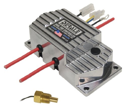 """Derale 16789 High Amperage Dual Fan Controller with 3/8"""" NPT Thread In Probe"""