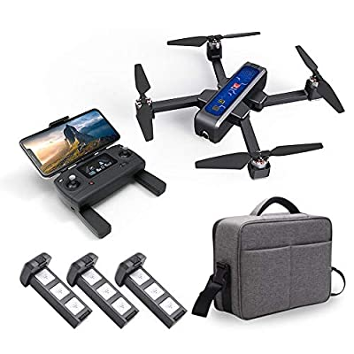 gaeruite [Upgraded Newest MJX Bugs 4W B4W RC Drone Drone, Foldable Four-axis Drone with 4K 5G Wifi FPV HD Camera with Brushless Motor Optical Flow Global Positioning