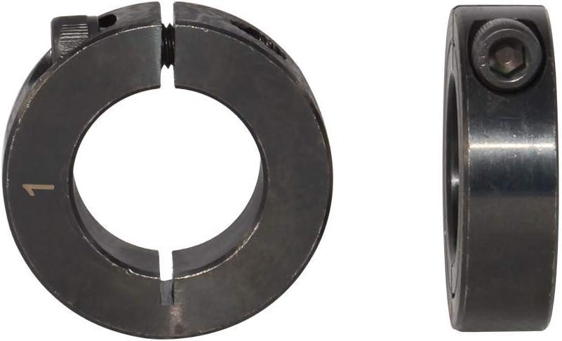 Bore Single Split Clamp-On Shaft Axle Collars with Set Screw 1