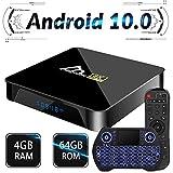 Android TV Box 10, 4GB 64GB TV Box Compatible con 8K 4K 3D, Amlogic s905x3 Dual-WiFi 2.4g / 5g Smart TV Box con Mini Control Remoto de Voz