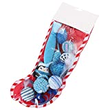 ZQEDY Cat Toy Filler,Funny Plush Squeaking Christmas Stocking Indoor Cat Toy Set Combination Gift