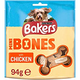 Bakers Mini Bones Dog Treats with Tasty Chicken, 94g