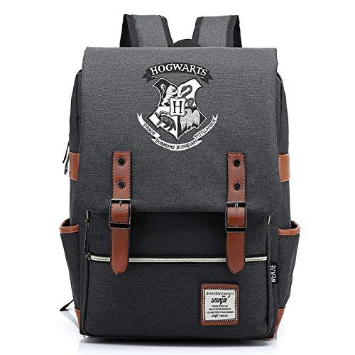 MMZ Bolsa de lona para estudiantes de primaria, mochilas para niños y niñas con estampado de carteles de Hogwarts Mochila informal para adolescentes 38x27x12.5cm (#32)