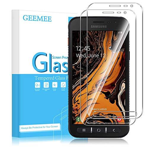 GEEMEE für Samsung Galaxy Xcover 4S/ 4 Panzerglas Schutzfolie Bildschirmschutzfolie, 9H Filmhärte Gehärtetem Schutzglas Hohe Empfindlichkeit Panzerglas Bildschirmschutzfolie (Transparent)-2 Pack