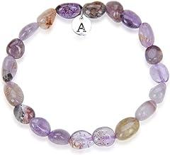 Adabele 1pc Natural 7 inch 7.5 inch Gemstone Bracelet Stretchy Chakra Gems Stones 6-8mm Free Form Beads Healing Crystals Engergy Quartz Women Girls Men Birthday Gift